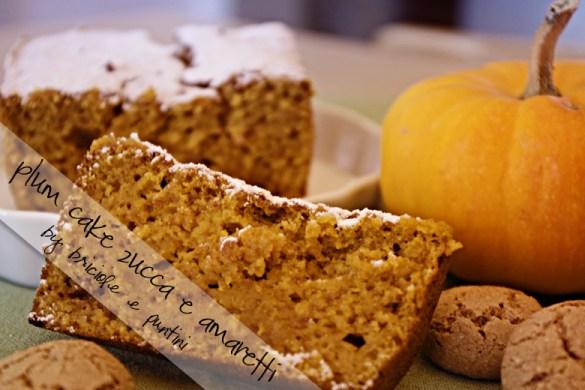 plum cake zucca e amaretti
