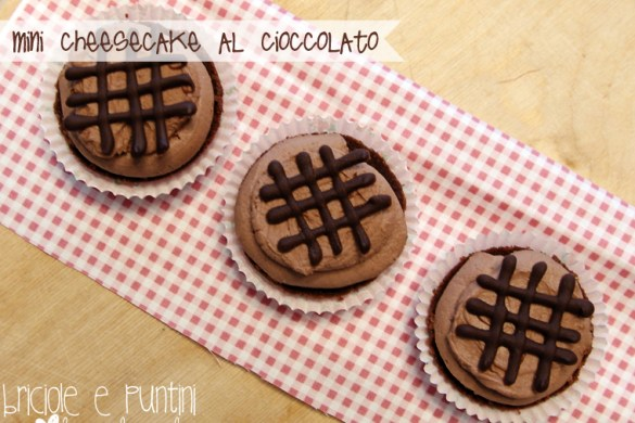 mini cheesecake al cioccolato