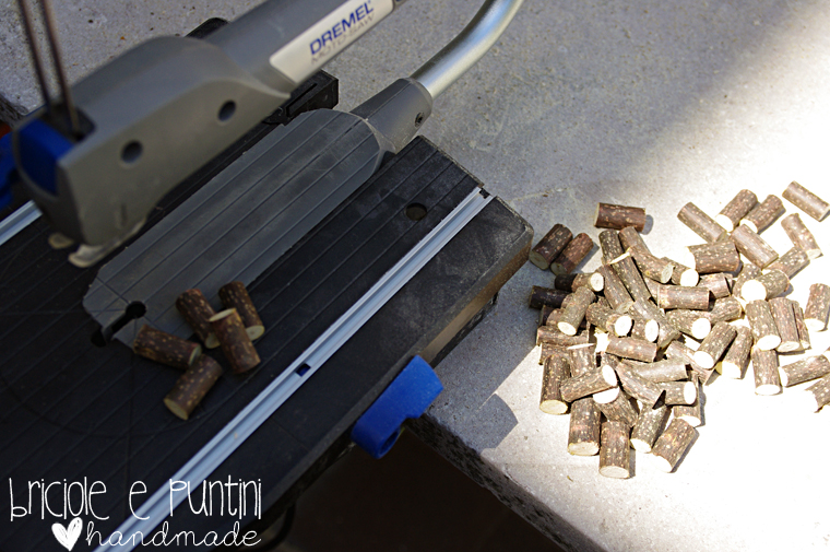 tutorial cuore con pezzetti di ramo