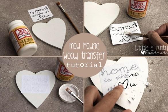 tutorial trasferimento immagini su legno con tecnica Mod Podge