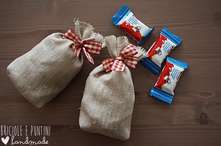 sacchetti dei doni di Babbo Natale