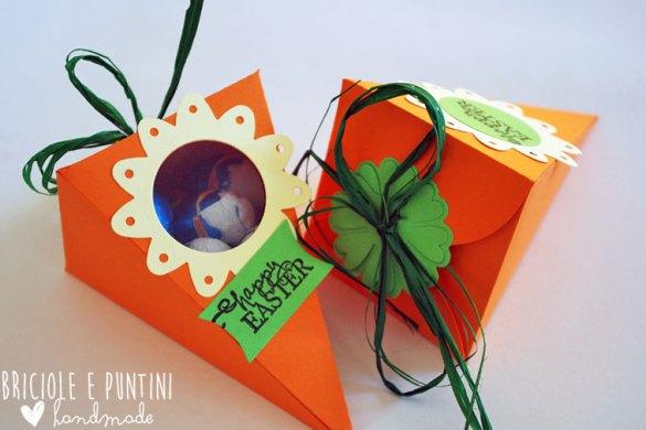 Petal cone die - scatolina a carota per Pasqua