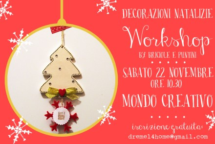 workshop decorazioni di Natale Mondo Creativo Bologna