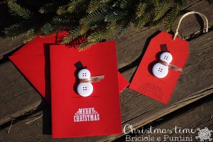 card di Natale con bottoni