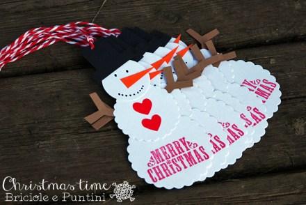 tag di Natale snowman