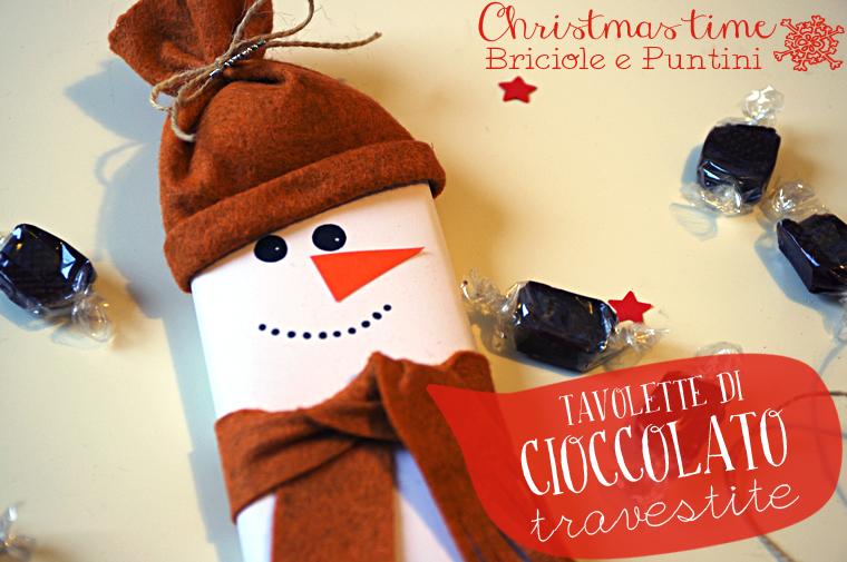 tavolette di cioccolato pupazzi di neve