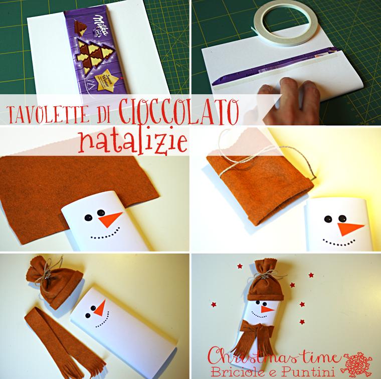 tutorial tavolette di cioccolato natalizie