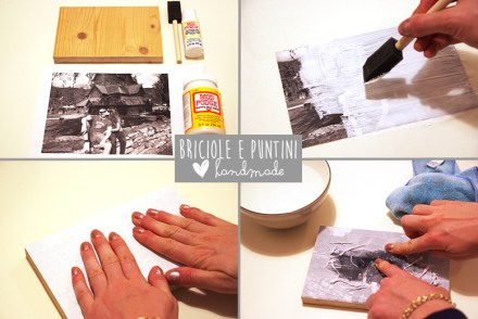 come trasferire una foto su legno con medium transfer - tutorial