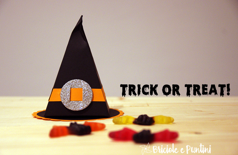 cappelli da strega porta caramelle per Halloween