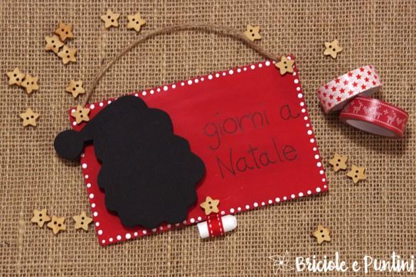 countdown per Natale - lavagna calendario dell'Avvento