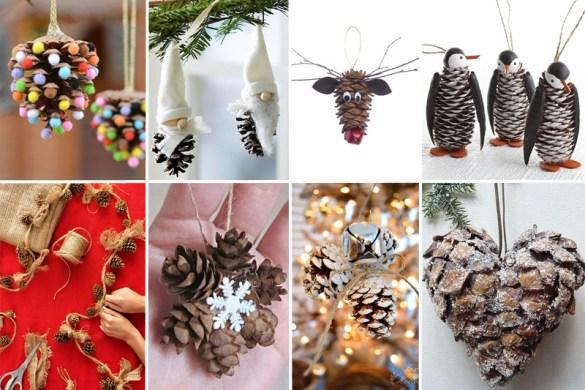 Vasi marmorizzati fai da te con gli smalti per unghie - Decorazioni natalizie con le pigne ...