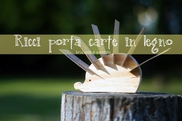 Ricci porta carte in legno con traforo Dremel MotoSaw