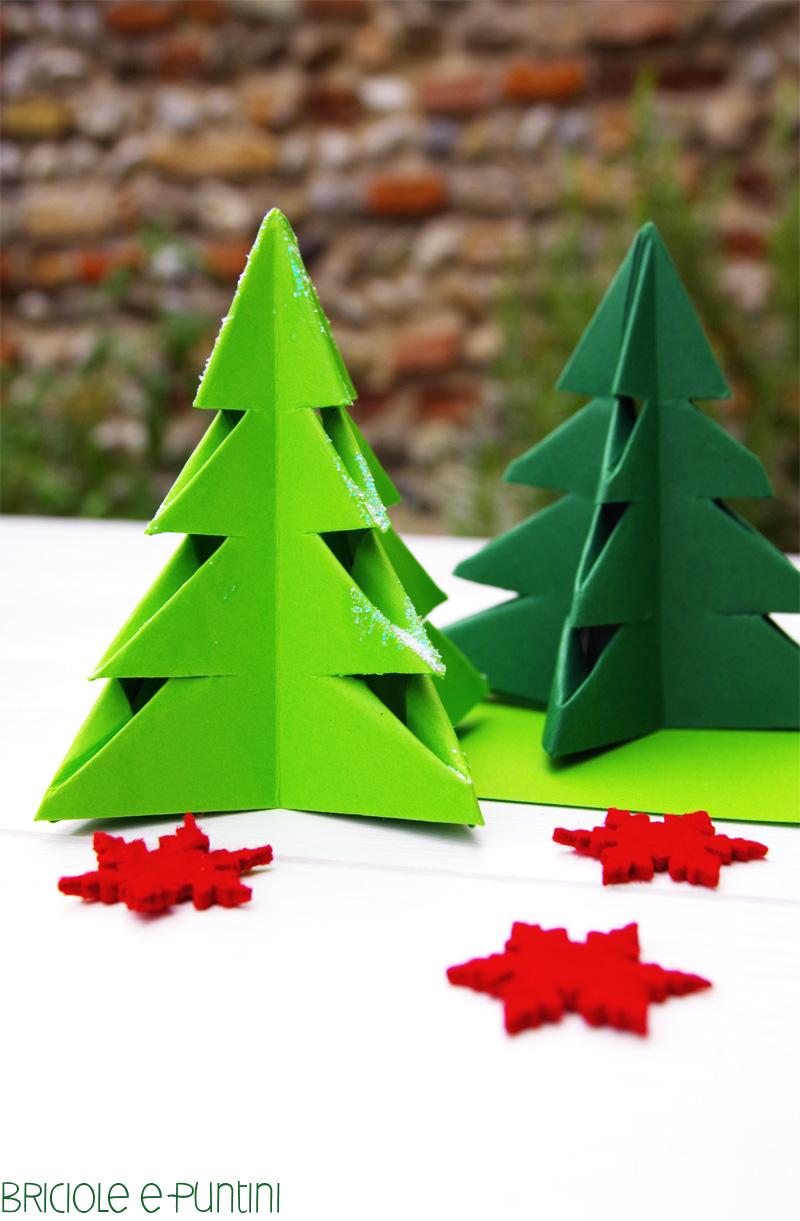 tutorial alberi di Natale origami