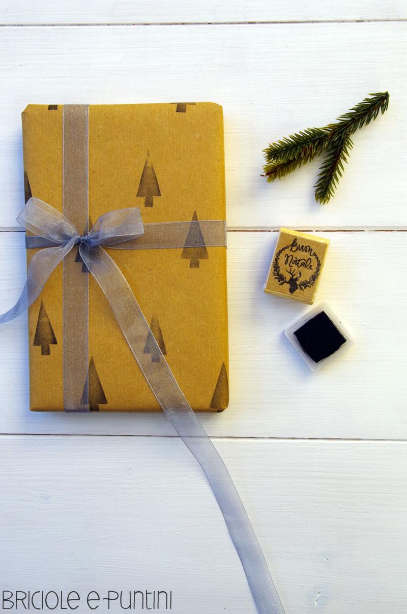 carta da regalo con timbri fai da te