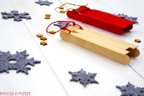 decorazioni di Natale fai da te - mini slittino con gli abbassalingua