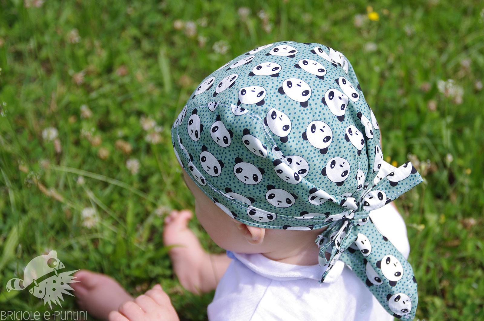3a8933f32d87 Come cucire una bandana pirata per bambini • Briciole e Puntini