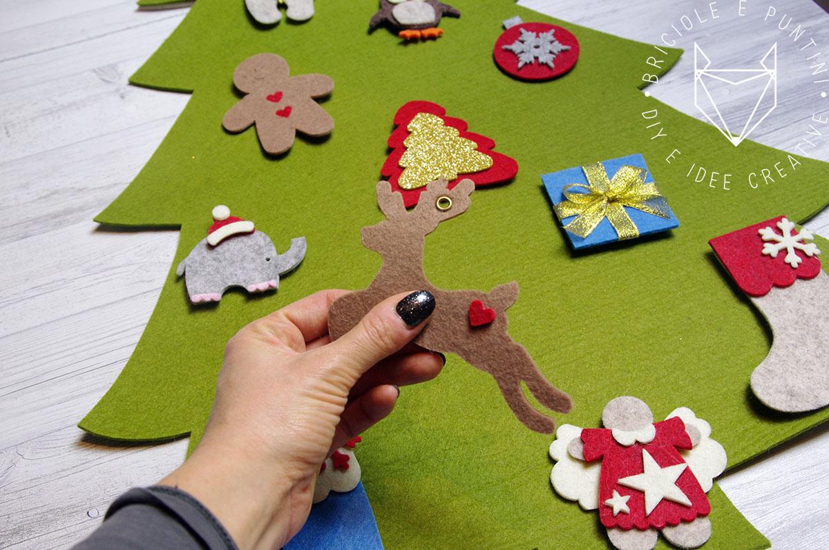Idee Creative Per Natale albero di natale montessori fai da te in feltro • briciole e
