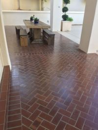 Clay brick floor - Brick Floor Tile