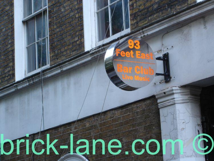 93 Feet East – 150 Brick Lane, London E1 6QL