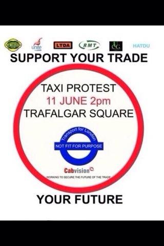 Demonstration around Trafalgar Square at 2pm 11/06/14