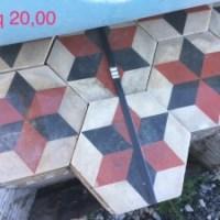 pavimento in pastina esagonale