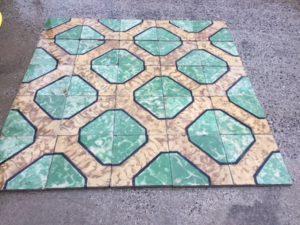 Pavimento in pastina verde smeraldo