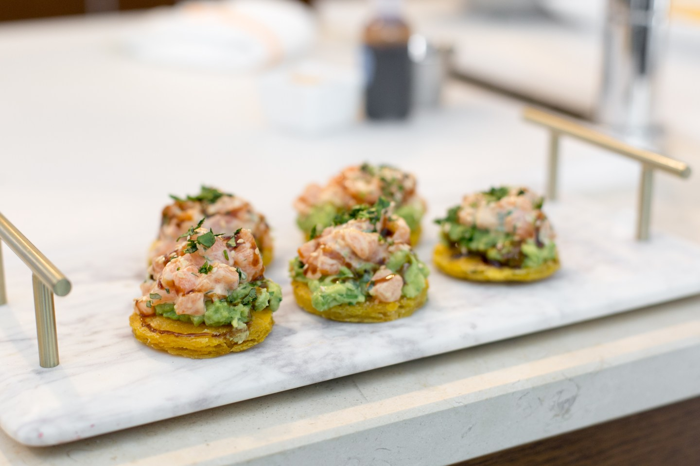 Salmon Tostones with Chef Andrew Balick of Tap 42 Restaurants