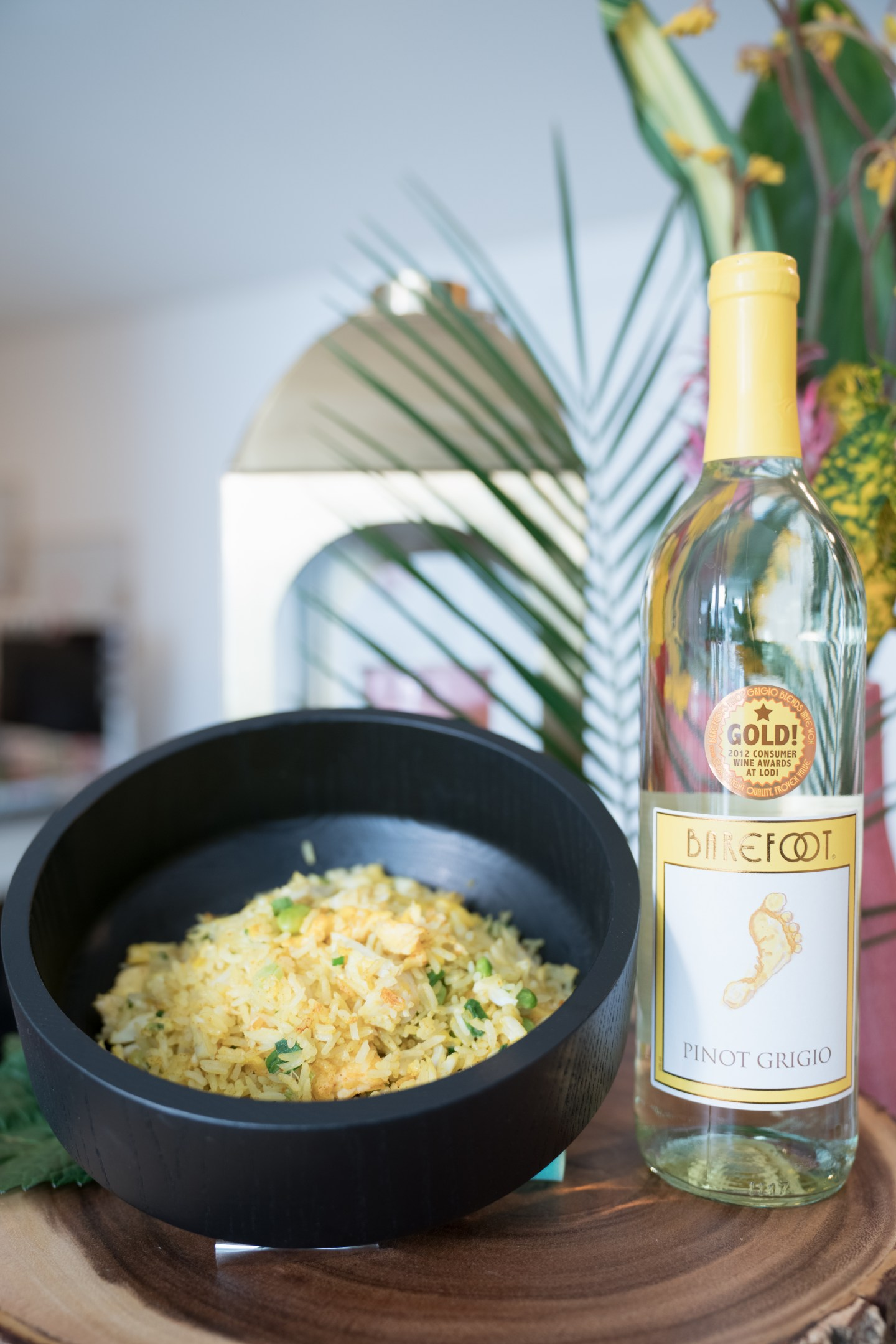 Crab Fried Rice Recipe with Barefoot Wines