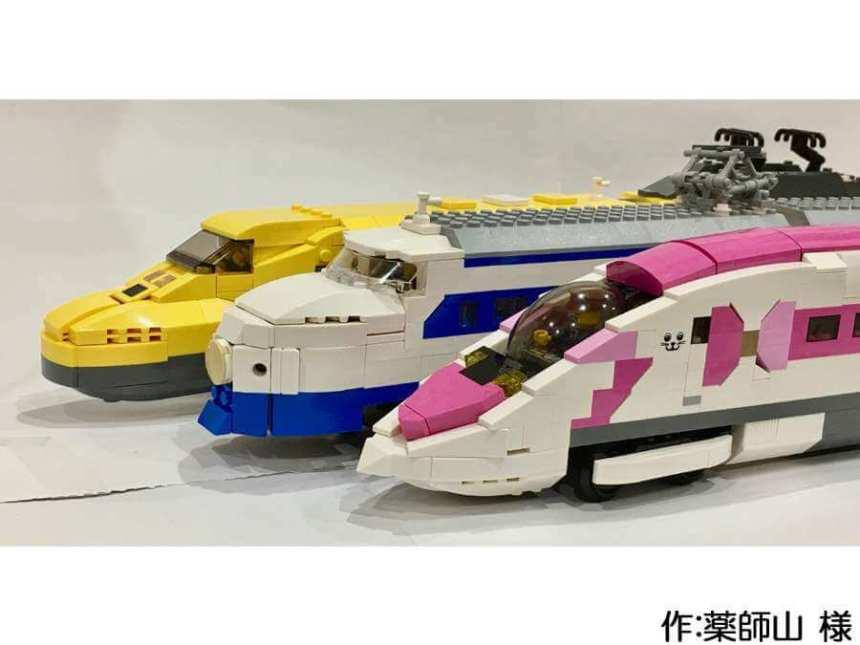 3種類の新幹線作品。実在の新幹線の特徴がよく再現されています。