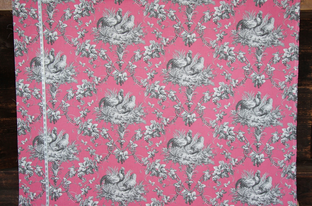 French rooster toile fabrics listed  Brickhouse Fabrics