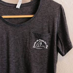 flowy dark grey crewneck t-shirt