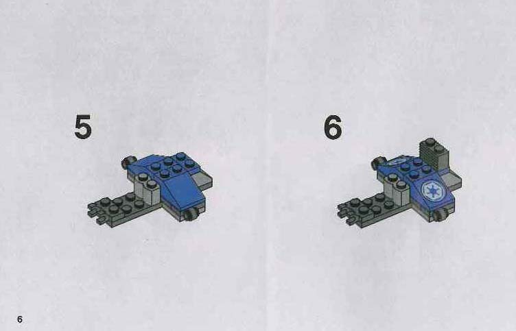 LEGO Imperial Dropship Instructions 7667, Star Wars