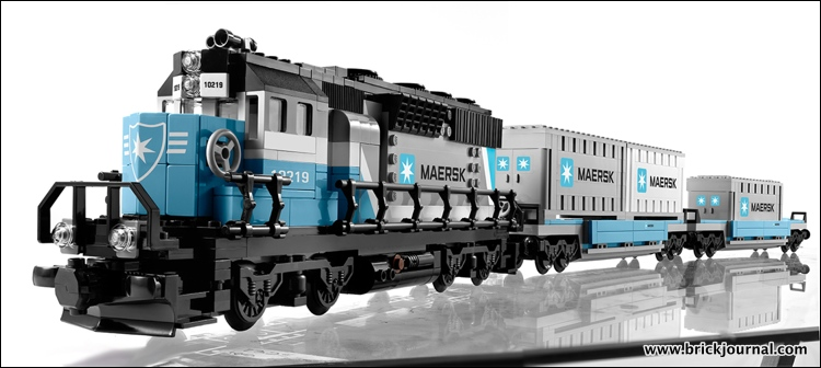 LEGO Maersk Train 10219 Video | Modelbuildingsecrets\'s Weblog