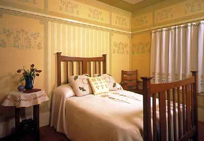 Bricks Amp Brass Decorative Details Of The Bedroom