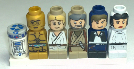 Microfig A New Hope Customs, by WholeHazelNuts, on EB