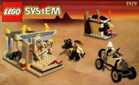 LEGO Adventurers Desert 5919 The Valley of the Kings 3722 Treasure Tomb
