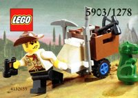 LEGO Adventurers Dino Island 1278 Jones and Baby Tyranno 5903 Johnny Thunder and Baby T