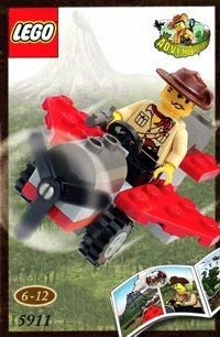LEGO Adventurers Dino Island 5911 Johnny Thunder's Plane