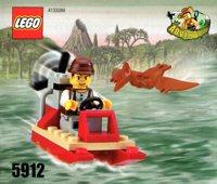 LEGO Adventurers Dino Island 5912 Mike's Swamp Boat
