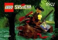 LEGO Adventurers Jungle 5901 5902 River Raft