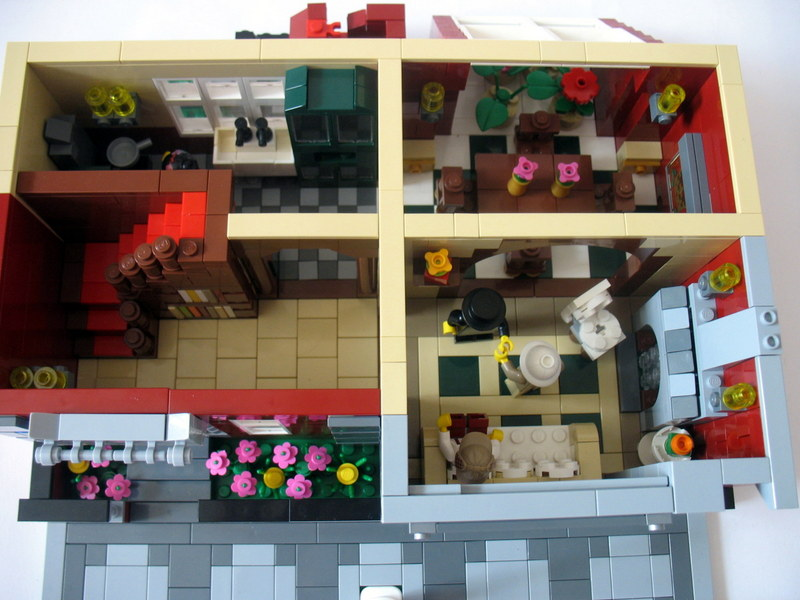 how to make a simple lego sofa spring repair kit modular madness brick home town eurobricks forums the first floor holds entryway with stair carpet runner and bookshelf under stairs living room light in fireplace table