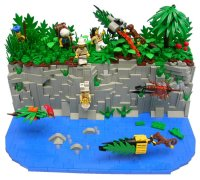 Jungle cave racing | The Brothers Brick | The Brothers Brick