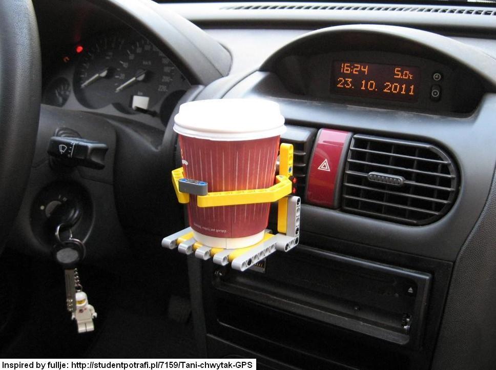 Uchwyt na kubek z kawą