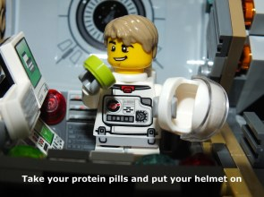 Take your protein pills and put your helmet on