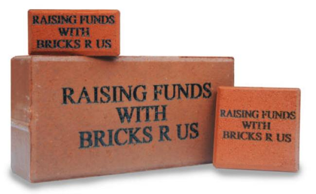 Donor Bricks Brick Fundraisers Bricks R Us