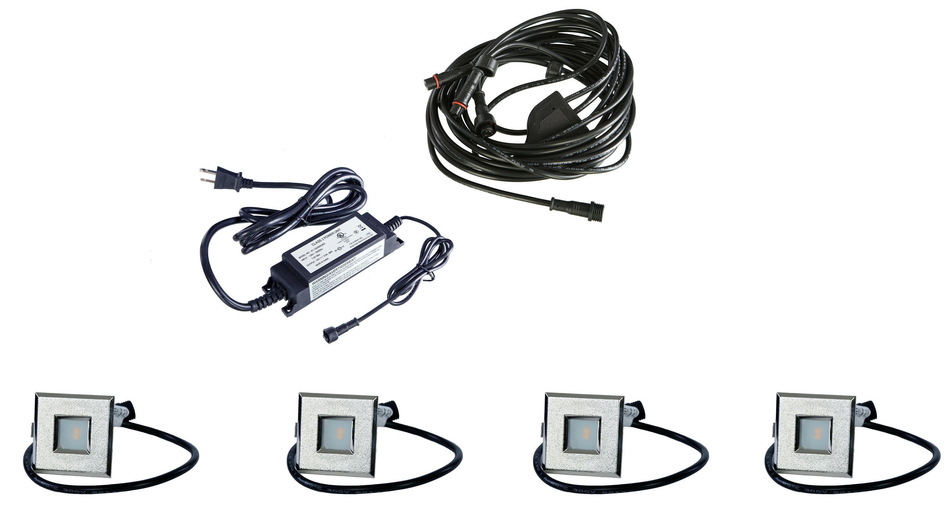 LED Outdoor Recessed Lights KIT-4 Mini Deck Lights(Spring