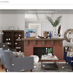 Design Living Room Virtual Tv Cabinet For I Redesigned My Awkward With Modsy S Interior Designers