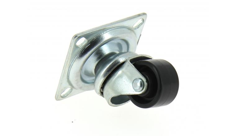Roulette pivotante  30 mm sur platine 4 points