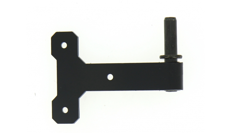 Gond  axe amovible en acier noir  Industrielle de sedan