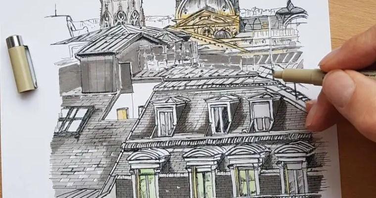 Sketching : Rue de Rivoli –  Paris